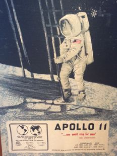 Grote afbeelding Apollo 11. 1969 one small step for men