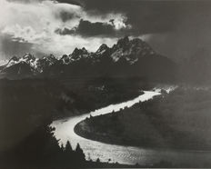 Ansel Adams (1902-1984) - The Tetons, Snake River, Wyoming, 1942 / Grand Canyon from the South Rim, Arizona, 1941