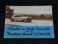 Citroen Traction - Rare catalogue of May 1936