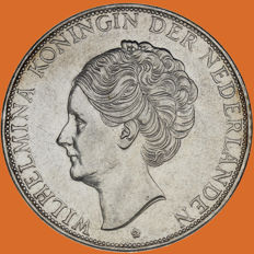 The Netherlands - 2½ guilder coin 1932, Wilhelmina with coarse hair - silver