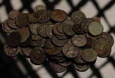 Roman Empire - A Selection of 75 Bronze Late Roman Imperial coins from the IVth. Century A.D. (75x)