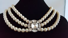 Yves Saint Laurent - Champagne colored  faux pearls  - Vintage