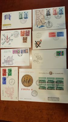 Europa Stamps 1956/1985 - FDC Collection in 3 Davo albums