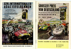 2  Nurburgring Grand Prix programmes 1960 and 1963