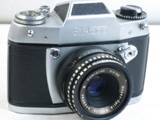 EXA 500, 35mm reflex camera, Domiplan 50mm lens, EXC++, ca. 1967