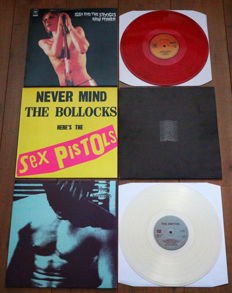 Great lot of 4 essential punk/new wave/ indie lp's from '73 to '84: Iggy & The Stooges, Sex Pistols, Joy Division & The Smiths