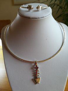 925 silver. Fish necklace and bracelet