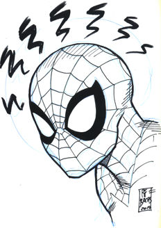 Bachs, Ramon F. - Original Drawing - Spiderman