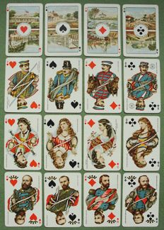 Royal Family, Willem III - Set of Playing Cards in Box - Dutch Indies