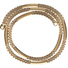 14 kt yellow gold Rolex link necklace - Length: 45.5 cm