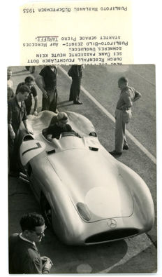 1955 Monza Mercedes Taruffi Original period press photograph
