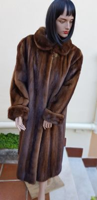 Mink fur coat (Made in Italy)