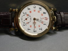 35. Omega men's marriage wristwatch 1908-1909