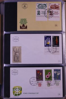 Israel 1957/2000 - Batch of FDCs in 7 albums