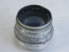 JUPITER-8 50mm/f=2 lens, with M39 screw mount,, made in Italy, ca. 1964