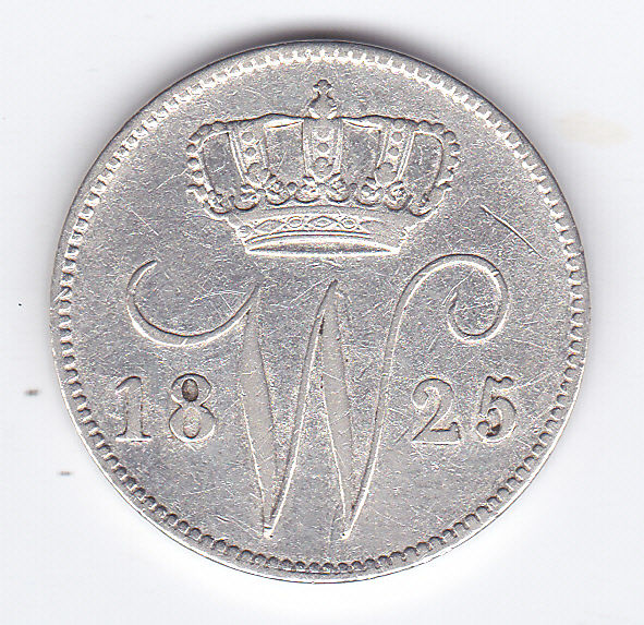 The Netherlands – 25 cents 1825 Utrecht, Willem I - silver