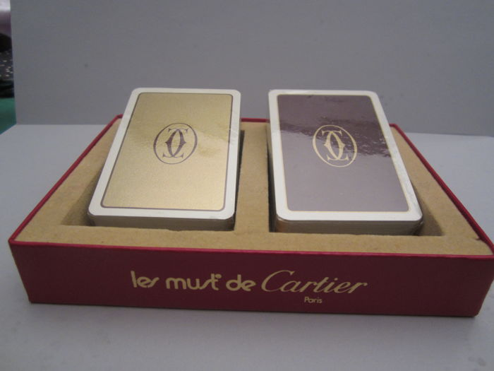 Le Must de Cartier French playing cards box set - ideal as a gift