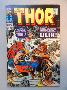 Marvel Comics - The Mighty Thor #137 - with 1st appearance of Ulik + 1st appearance of Mogul of the Mystic Mountain - 1x sc - (1967)