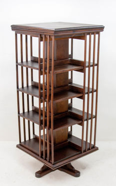 Large format revolving bookcase