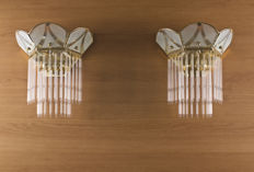 Pair of wall lamps, Italy, 1970s