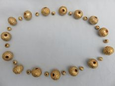 30 Decorated gilded silver wax beads - western Himalayas - 2nd half 20th century