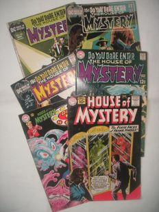 DC comics - House of Mystery - #108, 171, 179, 192, 193 and 196 - First Berni Wrightson - 6x sc (1961/1971)