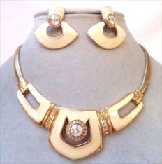 Signed BERGDORF GOODMAN New York - Demi Parure - Necklace and earrings