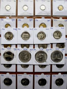 Peru - ½ Dinero through 400 Soles de Oro 1899/2016 (28 different ones) including 7x silver - high quality