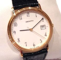 Time only ZENITH – UNISEX – Solid 750/1000 (18 kt) gold – In perfect condition