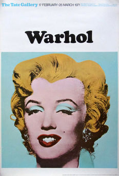 Andy Warhol - Tate Gallery London (Turquoise Marilyn) - 1971