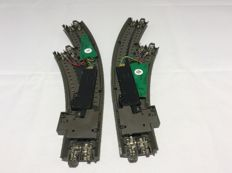 Märklin H0 - 24671/24672/74490/74460 - curved switch right, curved switch left; both with point drive and decoder (2354)