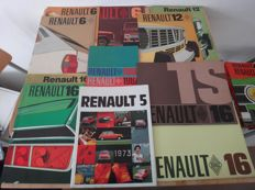 Lot of Renault brochures and leaflets  - 1960s -1970s