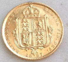 Great Britain - ½ Sovereign 1887 - Victoria (Jubilee Head) - gold