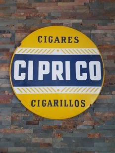 Ciprico enamel sign 1958
