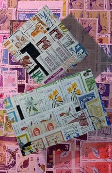 World - thousands of stamps from various countries