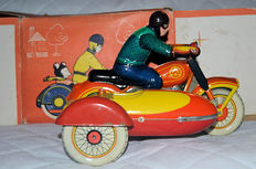 LMW, USSR - L. 22 cm - Tin sidecar with clockwork movement, 1960s/1980s
