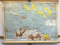 Old School map Netherlands Antilles