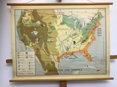Old School map United States of America