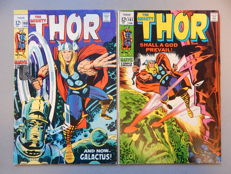 Marvel Comics - The Mighty Thor #160 + #161 - 2x sc - (1969)