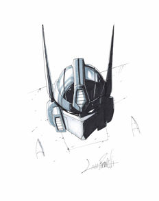 Livio Ramondelli - Original Drawing - Optimus Prime IV - Transformers