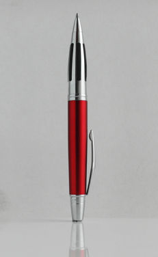 Cross: luxury ballpoint, high gloss red version, with chrome accents styled, high-tech, elegant design (C008)