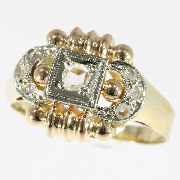 vintage unisex retro ring from 1945- 1955
