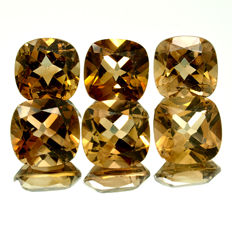6 Champagne Topazes - 29.85 ct  – No reserve price
