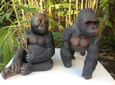 "2 Gorillas ""The Leonardo Collection"" 2002 and Out of Africa 2009"