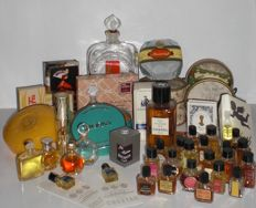 Collection of vintage ladies fragrance perfume bottles and soaps, Birger Christensen, Balmain, Lanvin, Worth, Roger&Gallet, Myrurgia and more