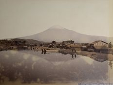 Unknown, possibly Adolfo Farsari (1841-1898) - Mount Fuji Japan