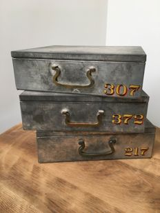 Industrial tin safe strongbox drawers