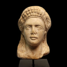 Roman Marble Bust of a Lady, 10 cm H