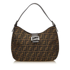 Fendi - Zucchino Jacquard Shoulder Bag
