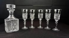 Baccarat, Lagny model. Lot of 6 pieces of engraved, cut crystal
